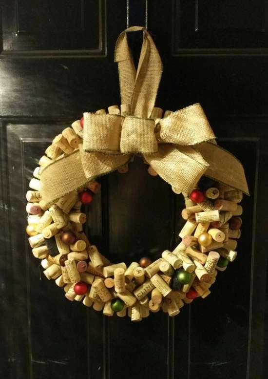 Оригінальне різдвяна прикраса двері (5 фото)