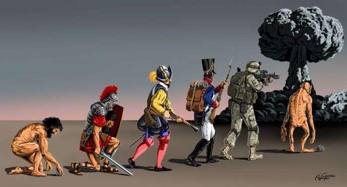 «Війна і мир» - новий проект художника Гюндуза Агаєва (8 малюнків)