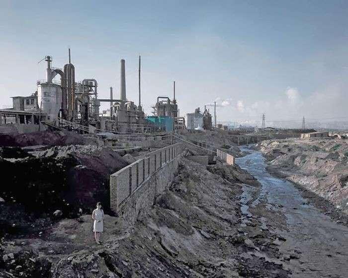 Занедбані міські і промислові китайські пейзажі у фотопроекті Чена Чжагана (44 фото)