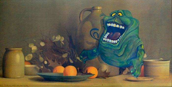 Художник Дейв Поллот дарує друге життя забутим картинам, доповнюючи їх фантастичними персонажами (20 фото)