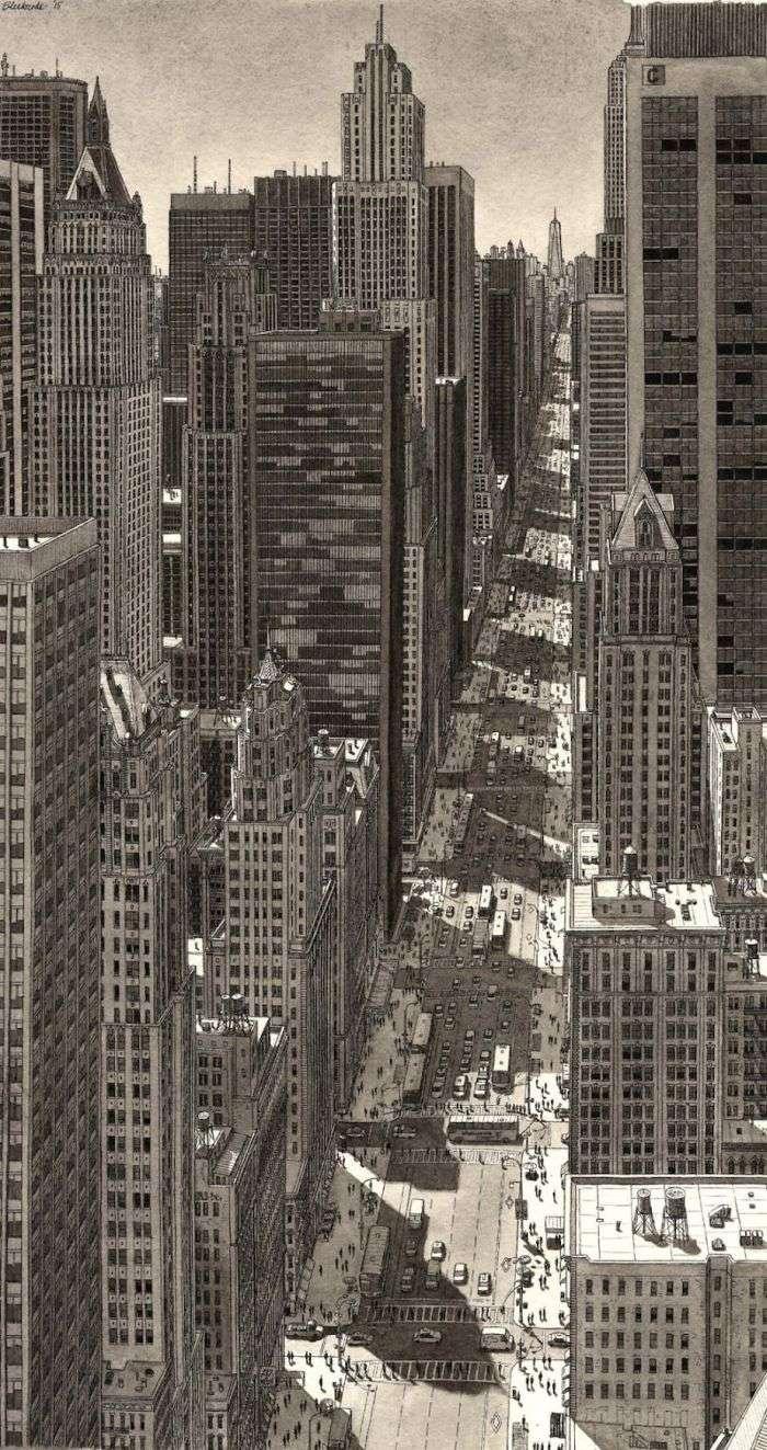 Малюнки міст по памяті від Стефана Бликроуда (14 фото)