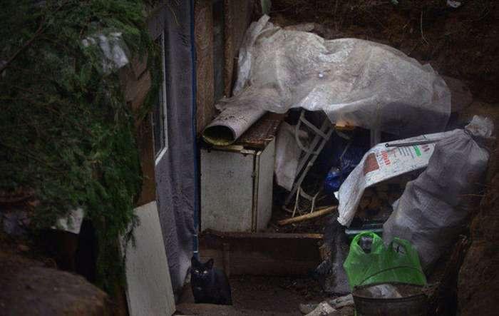 Білоруський бездомний оселився у землянці в лісі (11 фото)