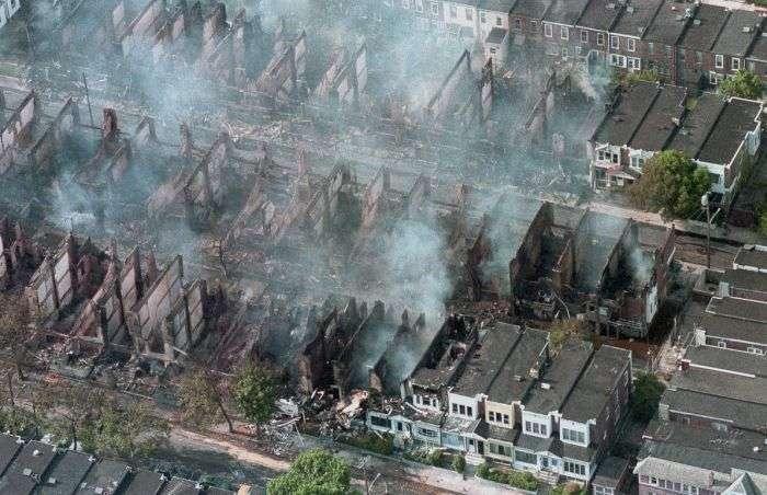13 травня 1985 року - день, коли поліція США знищила цілий квартал міста (10 фото)