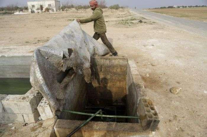 Кустарний завод по переробці нафти в Сирії (13 фото)