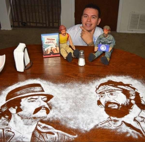 Картини сіллю від Роба Феррела (10 фото)