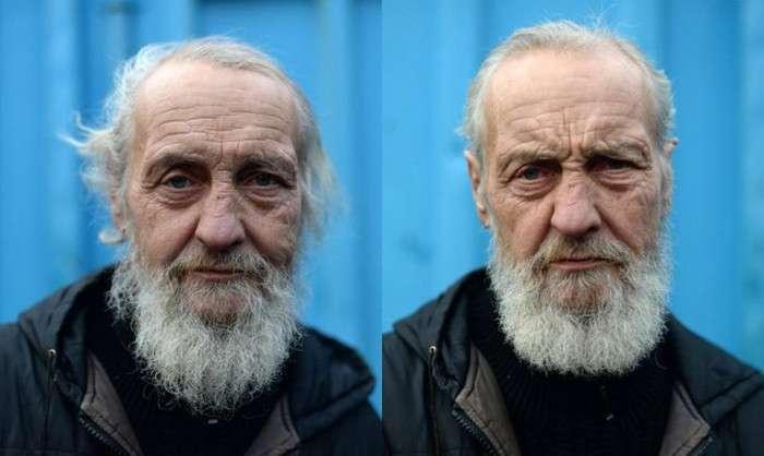 Відомий австралійський перукар Насир Собани постриг пітерських бездомних (8 фото)