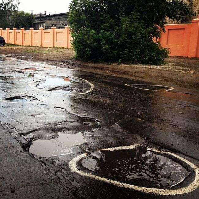 Російські дороги на фото з соцмереж (21 фото)
