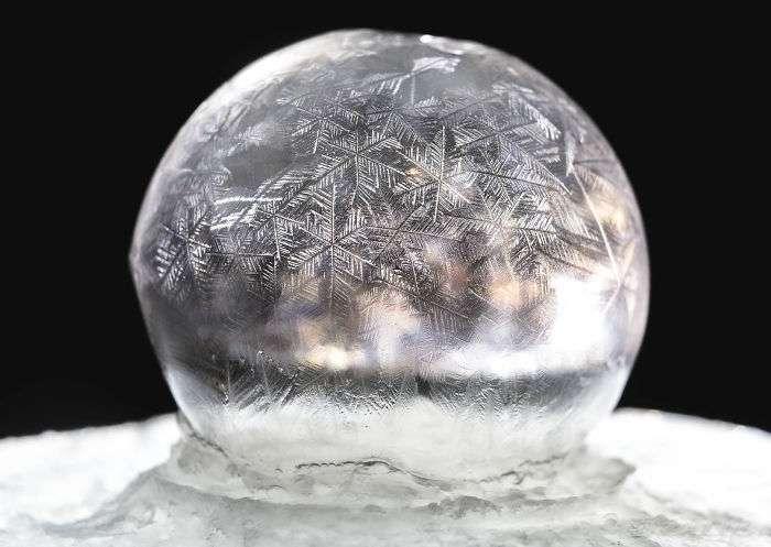 Мильна бульбашка при температурі -15 градусів Цельсія (5 фото)