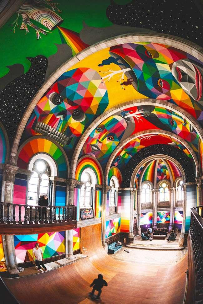 Занедбану іспанську церкву перетворили в скейт-парк (7 фото)