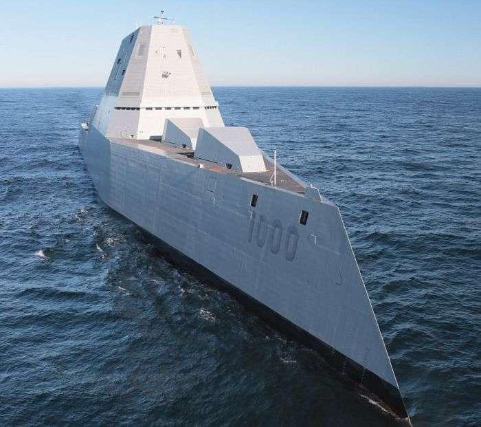 У США зійшов на воду найбільший есмінець Zumwalt (9 фото)