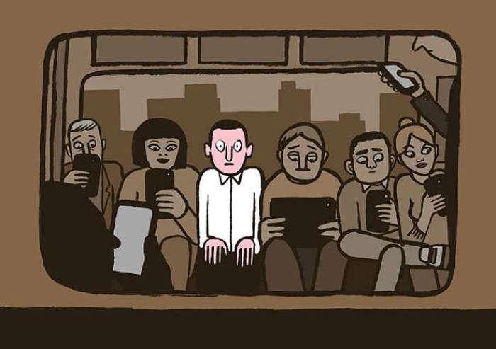 Залежність сучасного суспільства в картинках (43 картинки)
