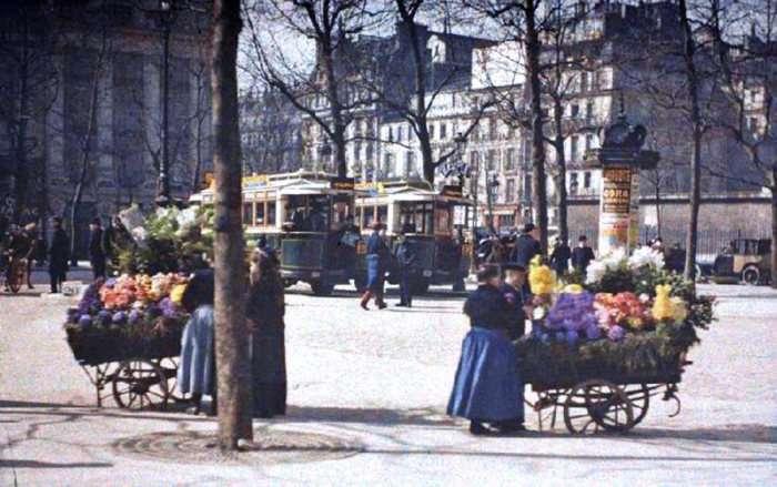 Рідкісні кольорові знімки Парижа 100-річної давності (55 фото)