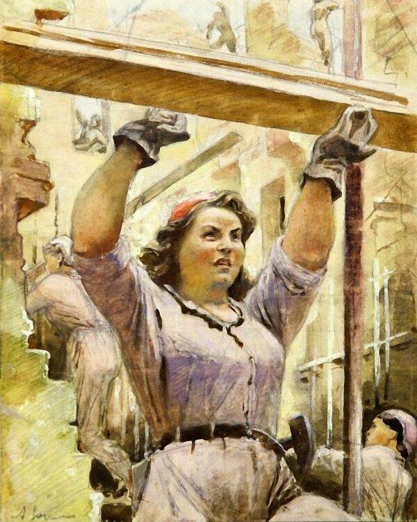 Женщины советской эпохи глазами художников История,ссср