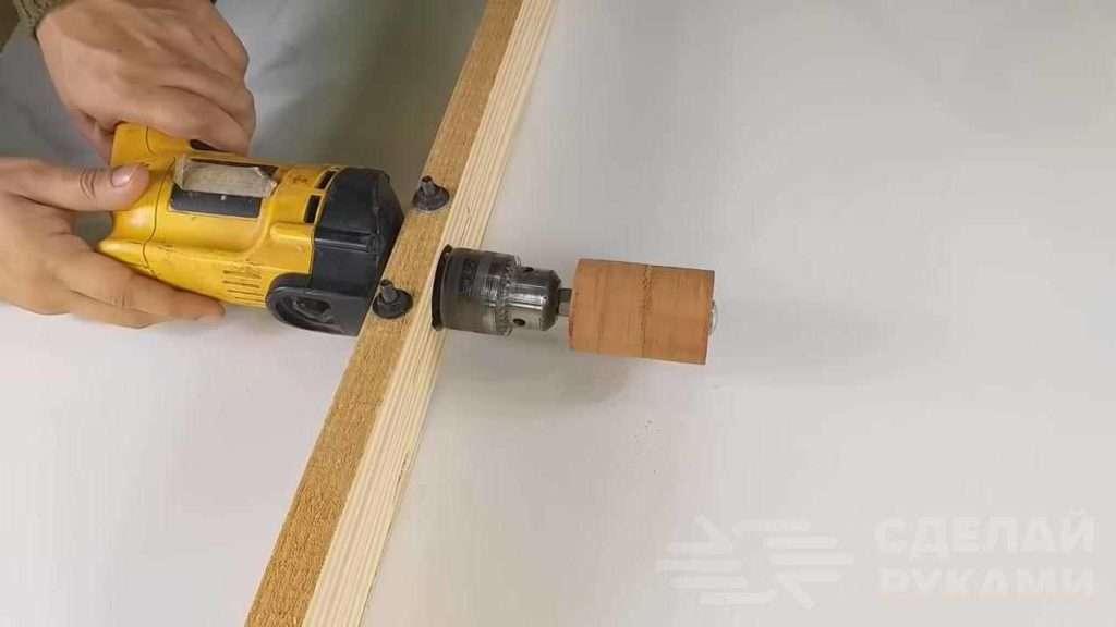 Насадка на дрель для изготовления деревянных ложек Самоделки