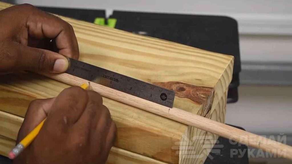 Необычный способ крепления деревянной полки Самоделки