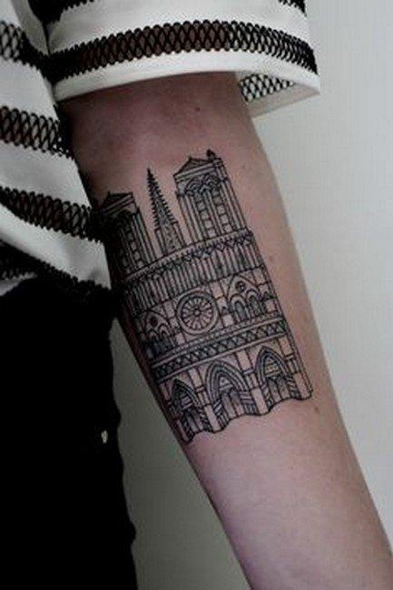 Архитектурные татуировки Интересное,татуировки