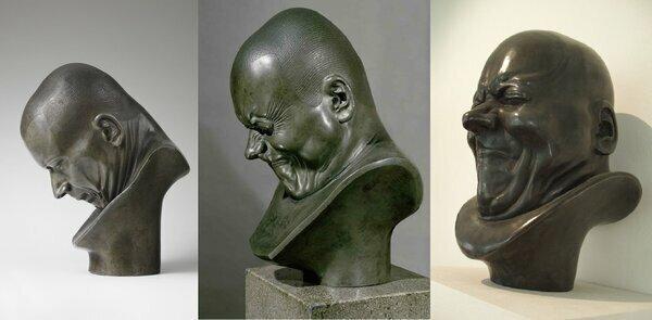 Как стать успешным скульптором? Сойти с ума, как вариант. Темпераментные бюсты, живущие своей жизнью   Интересное