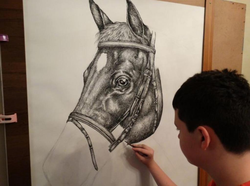 «Ребенок-вундеркинд»: 15-летний мальчик из Сербии рисует великолепных животных по памяти Интересное
