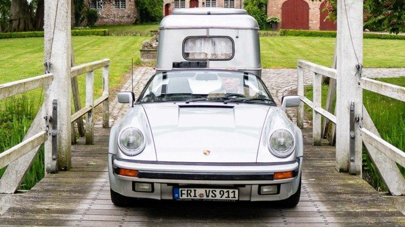 Porsche 911 Speedster 1989 — Отличный тягач для винтажного кемпера   авто