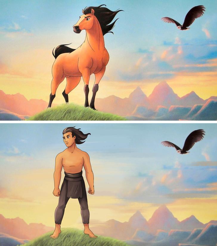 Мы представили, как выглядели бы животные из мультфильмов в образе людей Интересное