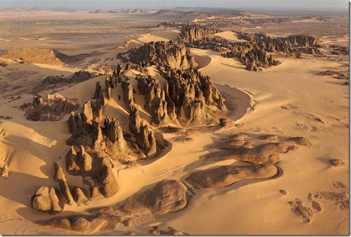Пустыни с высоты птичьего полёта мир,путешествие