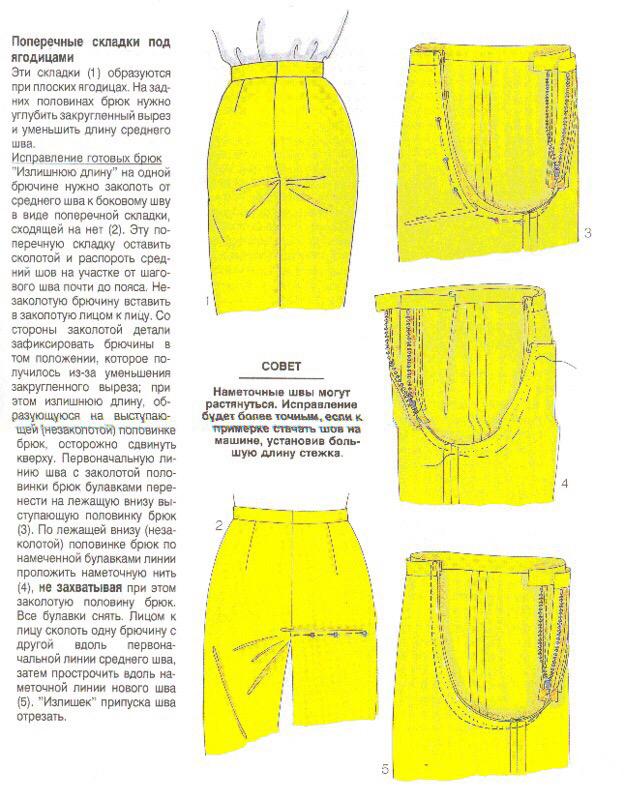 Исправление дефектов выкройки брюк исправление дефектов в выкройке брюк,одежда,переделки,рукоделие,рукодельнице на заметку,своими руками
