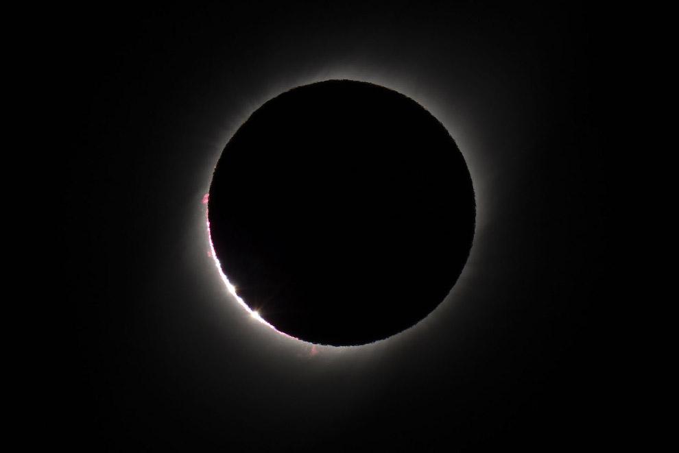Полное солнечное затмение 2019 затмение,интересное,мир,солнце