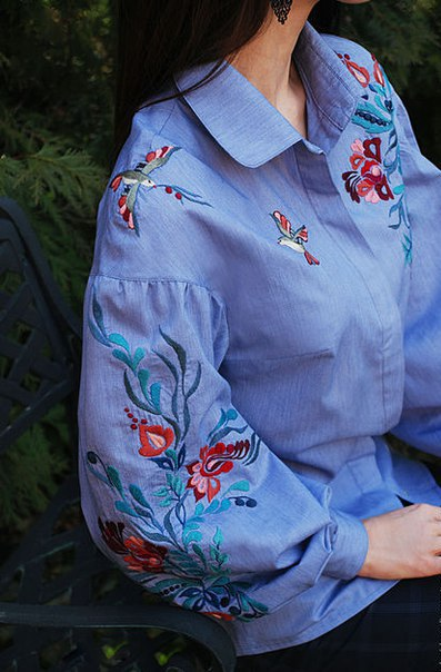 Восхитительные идеи вышивки вышивка,идеи,одежда,своими руками