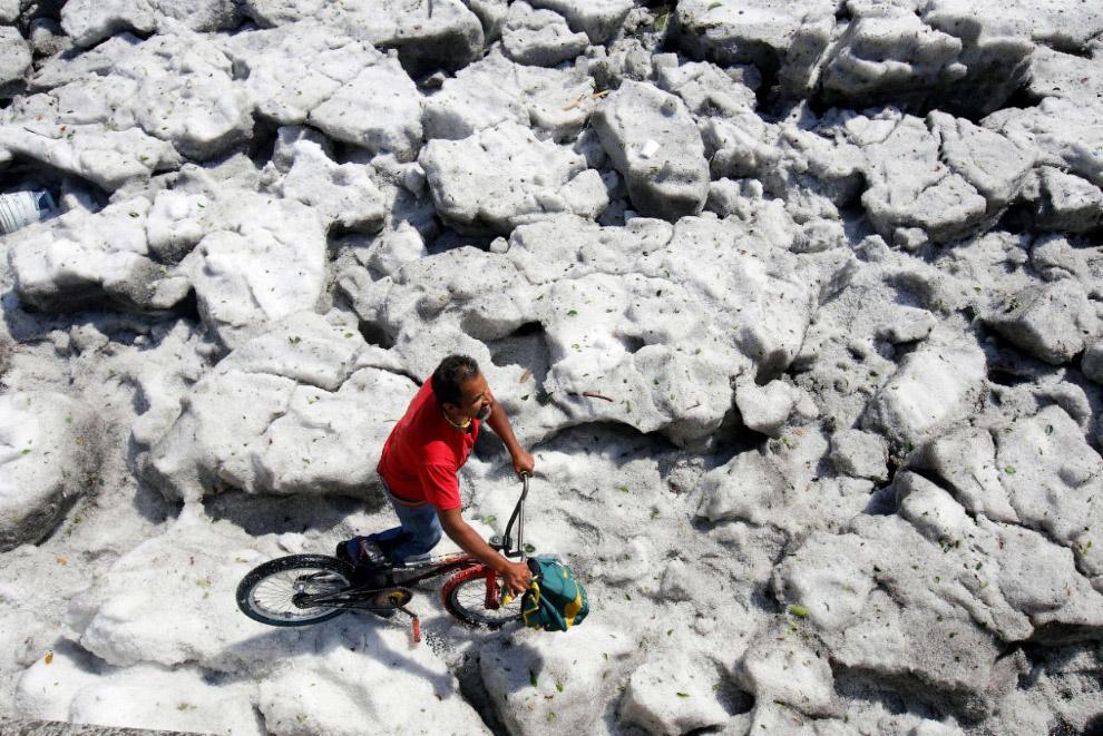 Как в Гвадалахаре снег выпал Мексика,необычное,природа,снег