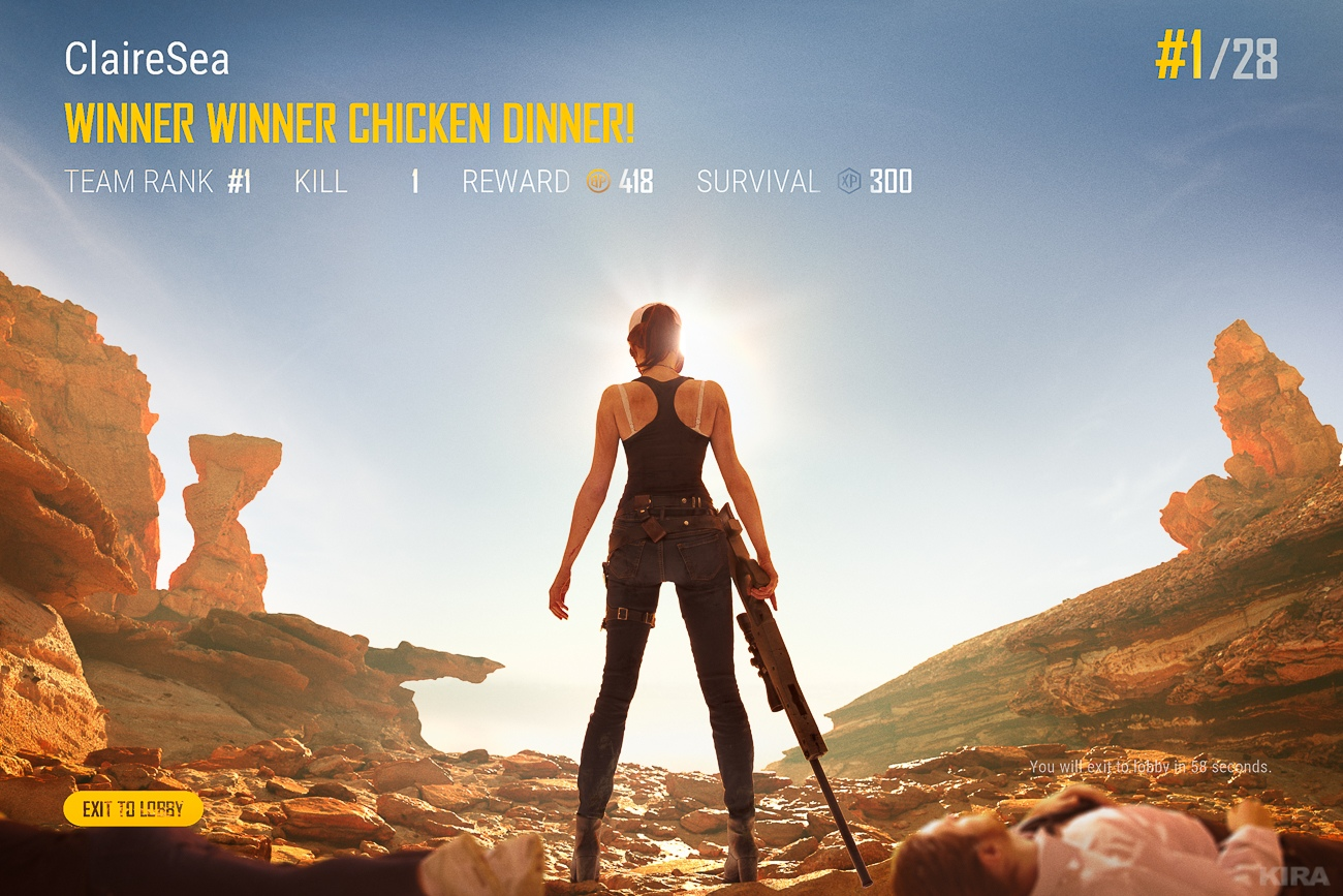 PlayerUnknown's Battlegrounds - косплей: Winner, winner, chicken dinner Игры,косплей