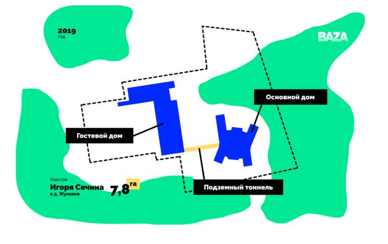 Baza рассказала о строительстве особняка Сечина за 18 млрд рублей. дом,общество,Подмосковье,расследование,россияне,Сечин,слухи