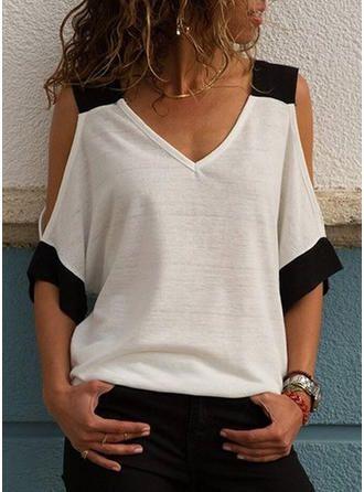 Один нюанс преобразил простую футболку в нарядный топ одежда,переделки,своими руками