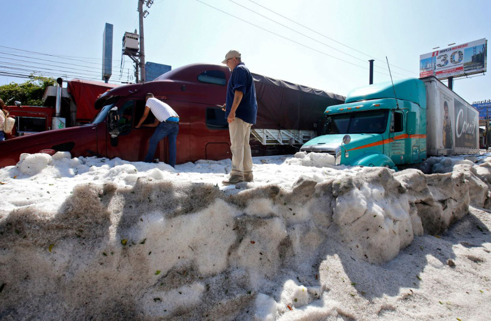 В Гвадалахаре выпал снег Америка
