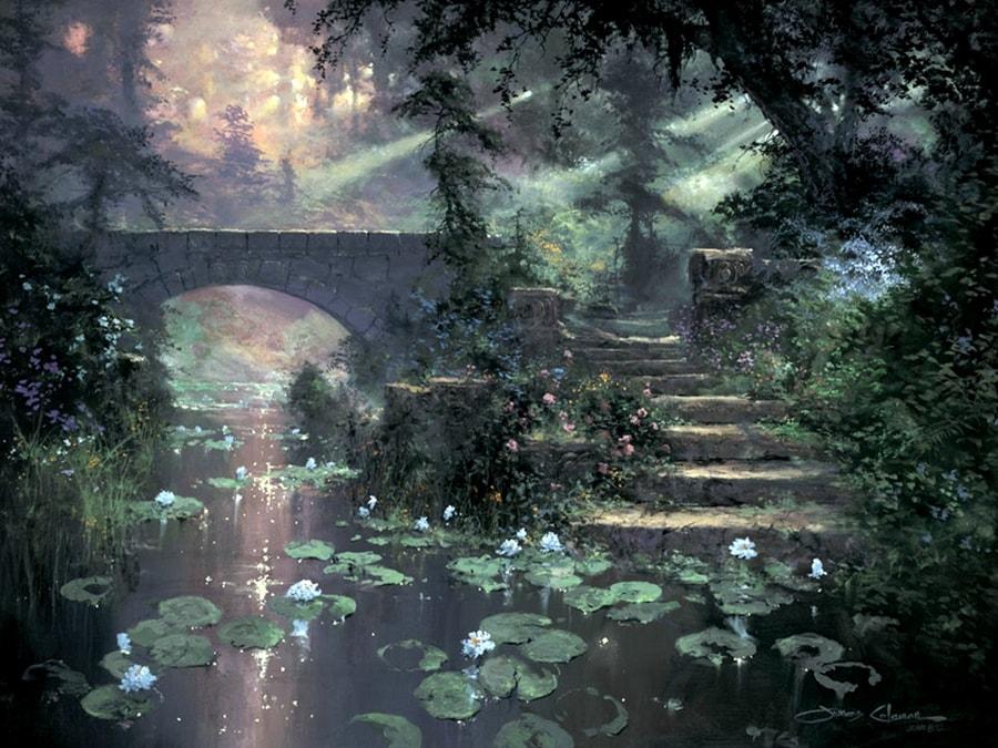 Сказочные пейзажи Джеймса Коулмана живопись