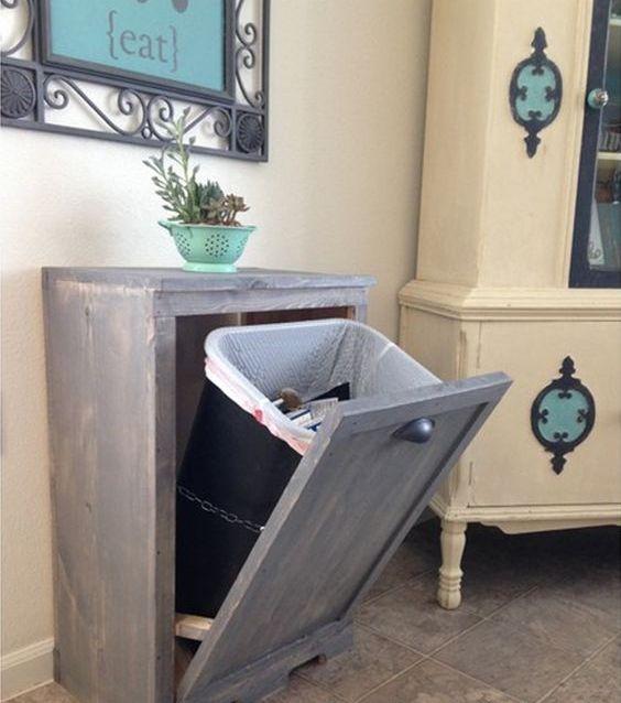 29 идей для дома: спрячем мусорное ведро на кухне дача,декор,дизайн,дом,жилье,инструмент,интерьер,квартира,мебель,полезные советы,ремонт