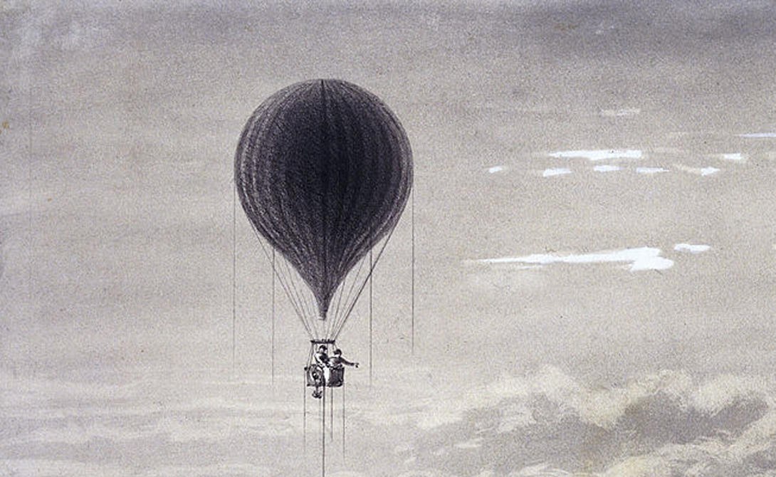 Путешествие на воздушном шаре 1862 года Путешествия,фото